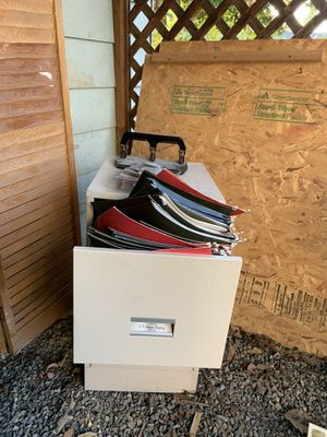 File cabinet with folders for Sale in Lakewood, WA