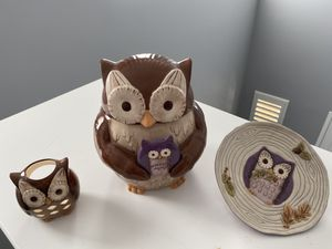 Cookie Jar Owl Set for Sale in Mission Viejo, CA