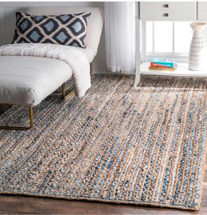 Gorgeous jute area rug / 8x10 area rug jute natural fiber / braided jute accent rug for Sale in Glendale, AZ