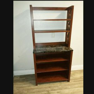 Rustic Baker Rack In Vintage Walnut Finish for Sale in Ontario, CA