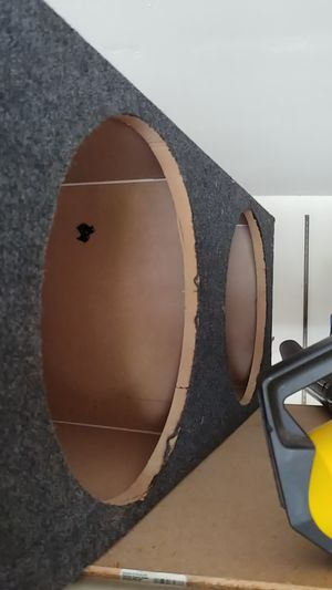 Dual 15 inch subwoofer box for Sale in Homewood, IL