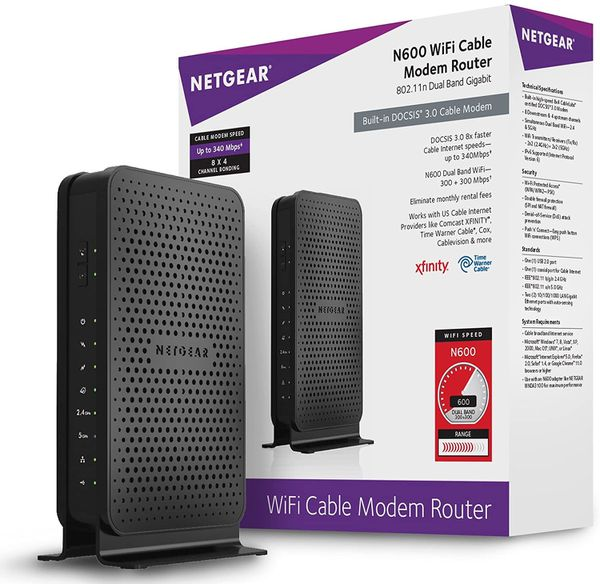 Netgear N600/C3700 WiFi Cable Modem Router