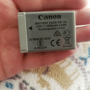 Canon NB-13L Battery for Sale in Kingsburg, CA