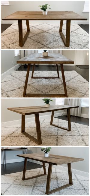6FT x 3FT Solid Wood Rustic Modern Dining Table for Sale in Pleasanton, CA