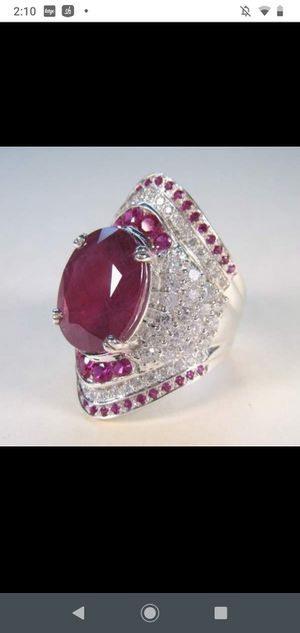 Ruby gemstone Sterling silver ring for Sale in WILOUGHBY HLS, OH