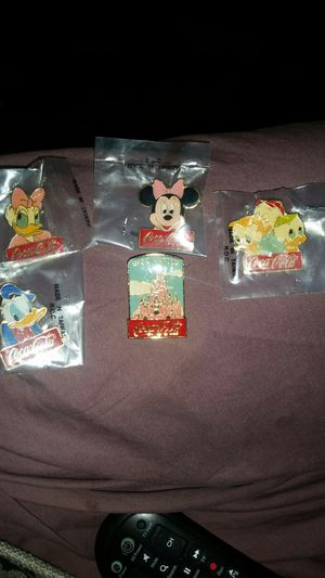 5 Disney, 15th anniversary, coca cola b pins for Sale in Rutherford, NJ