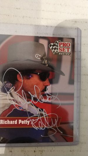 Richard petty autograph card for Sale in Jacksonville, FL