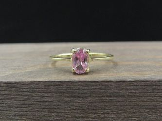 Size 5 10K Gold Pink Purple Sapphire Petite Band Ring Vintage Estate Wedding Engagement Anniversary Gift Idea Beautiful Elegant Unique for Sale in Everett,  WA