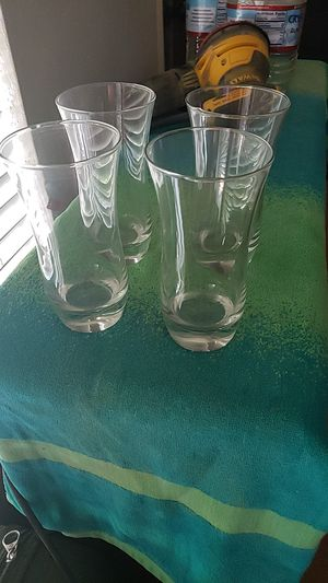 4 matching glasses for Sale in Modesto, CA
