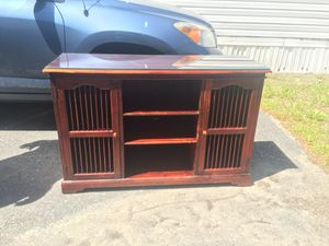 Wood tv stand for Sale in Shirley Center, MA