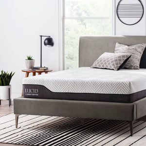 SALE!!! LUCID 10 Inch Queen Hybrid Mattress - Bamboo Charcoal and Aloe Vera Infused Memory Foam Queen size $200 for Sale in Columbus, OH