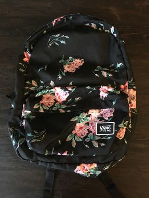 authentic vans backpack extremely new condition, no signs of wear. fits laptop must pick up near glenmont md for Sale in Silver Spring, MD