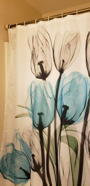 Bathroom curtain with rod for Sale in Irvine, CA