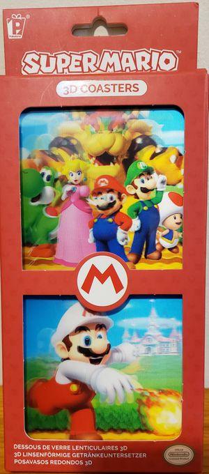 Nintendo Super Mario, 3D Lenticular Coasters - NES, Set of 8. for Sale in Wareham, MA
