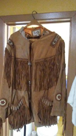 Sully- fringed -suede leather cowboy coat for Sale in Duncanville, TX
