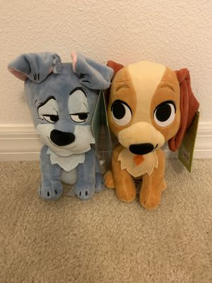 FurryTale Lady and the Tramp 2Pc Set Disney plushies new with tags for Sale in Davenport, FL