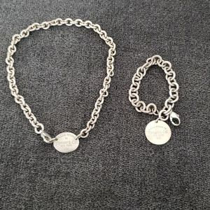Tiffany Choker Necklace And Bracelet for Sale in Beaumont, CA