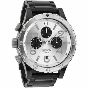 Nixon 48-20 Chrono Watch - Black / Silver for Sale in LA CANADA FLT, CA