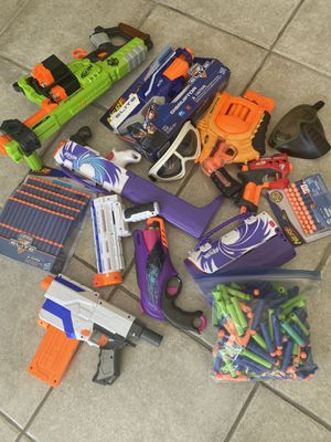 Nerf guns huge lot boys and girls kids toys for Sale in Coconut Creek, FL