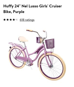 "Huffy 24"" Nel Lusso Girls' Cruiser Bike, Purple Satin for Sale in New York, NY"