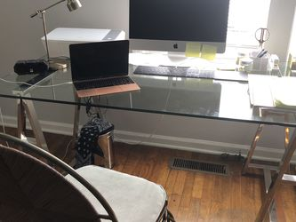 Glass Table Desk Dining for Sale in Alpharetta,  GA