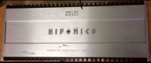Hifonics Zeus ZXi60.4 + 1K 5-Channel Zeus Series Car Amplifier for Sale in San Francisco, CA