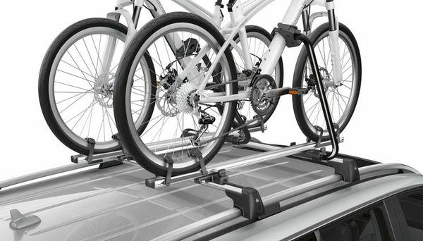 Mercedes Benz Roof rack and two bike racks.