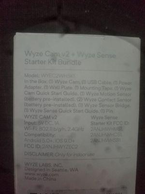 WYZE wireless smart security camera + door/window sensor. for Sale in Peabody, MA