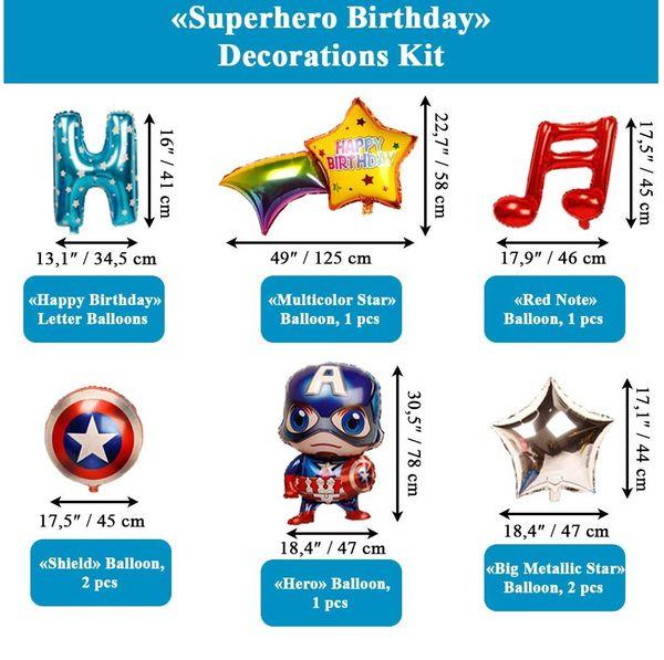 Captain America Birthday decoration kit 32pc