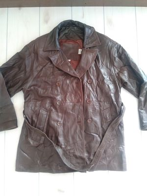COACH Men's Leather Double Breasted Trench Coat Jacket Sz Small for Sale in Fort Worth, TX