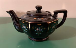 Vintage Demitasse Teapot Porcelain/Ceramic Japan Blue Floral with Gold Accents for Sale in Boca Raton, FL