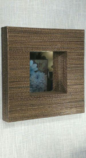 "Textured Woven Wall Mirror 17""x17""x3"" *PICKUP ONLY* home decor, household for Sale in Mesa, AZ"