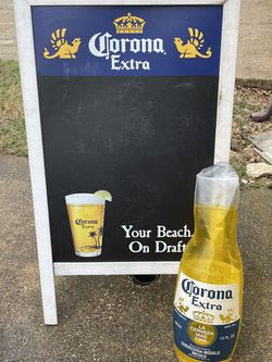 Corona Beer Chalkboard Easel And Inflatable for Sale in Duncanville,  TX