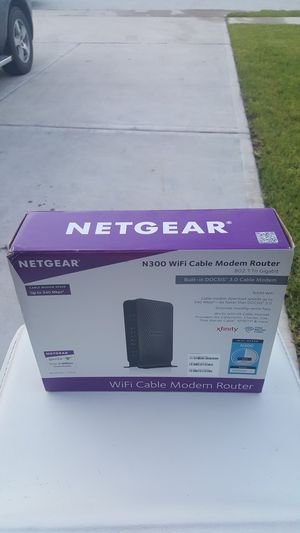 NETGEAR internet / cable modem for Sale in Conroe, TX