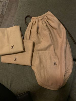Lot of three vintage Louis Vuitton dust bags for Sale in Obetz, OH