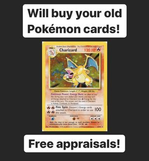Old Pokémon Card Collection Vintage Charizard 1999 Wizards of the Coast for Sale in Riverside, CA