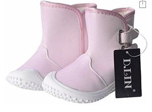 NEW! Color Changing!! Toddler 7 1/2 Boots for Girls, 100% Soft Genuine Leather Baby Girl Shoes for Sale in Stuart, FL