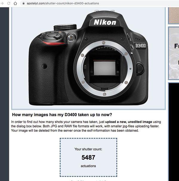 Nikon D3400 DSLR Camera - Like New!