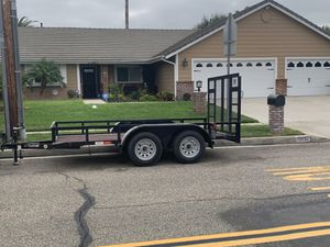 7x12 2018 TRAILER WITH HEAVY DUTY RAMP for Sale in Chino, CA