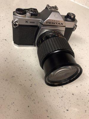 Asahi Pentax K1000 SLR 75mm Film Camera with zoom lens for Sale in Whittier, CA