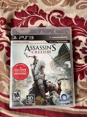 Assassins creed 3 ps3 for Sale in Compton, CA