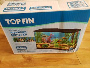 TOP FIN Aquarium Starter Kit - 5.5 Gallon + Extras for Sale in Loxahatchee, FL