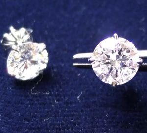 ❤️❤️❤️ 3.02 ctw Round Brilliant Natural laser drilled diamond earrings for Sale in Bethesda, MD