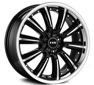 "Wheels 18"" NS Tunner NS9017 Black Machined Face and Lip Rims. PAQUETES DE RINES Y GOMAS for Sale in Doral, FL"