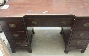 Antique wood desk for Sale in Coral Gables, FL