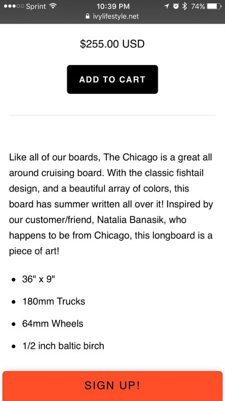 """The Chicago"" longboard by IVY"