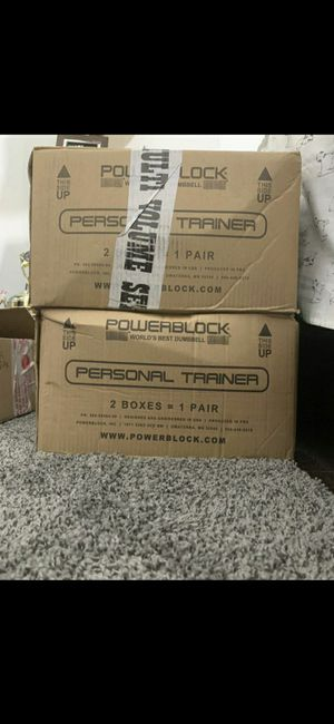 Powerblock personal trainer set 5 to 50 lbs adjustable dumbbells for Sale in Key West, FL