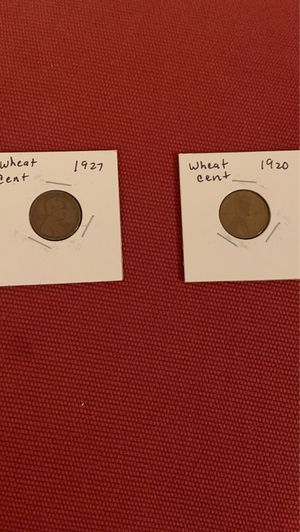 1927 and 1920 wheat cent bundle for Sale in Fresno, CA