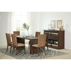 Brown Dining Table Solid Mahogany in Sand Blasted Whiskey Finish for Sale in Los Angeles,  CA