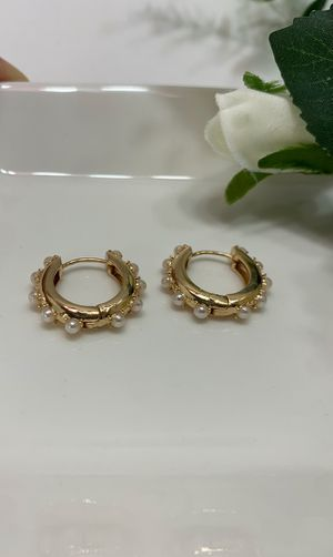 Simple jewelry Round Shape Brass Clip On Earrings for Sale in Tustin, CA
